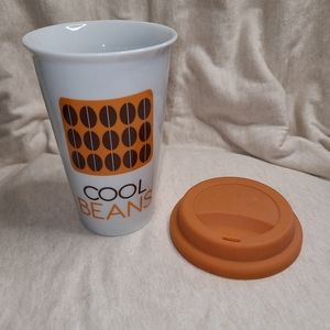 🦋 5/$25 Cool Beans ceramic mug with silicone lid